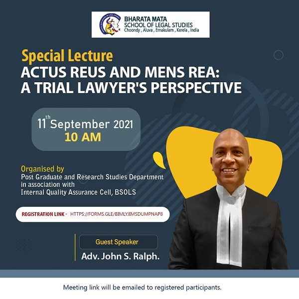 SPECIAL LECTURE ON ACTUS REUS AND MENS REA